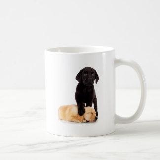 Labrador Retriever Puppies Playing Coffee Mug