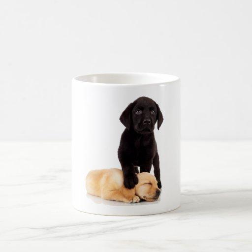 Labrador Retriever Puppies Playing Classic White Coffee Mug