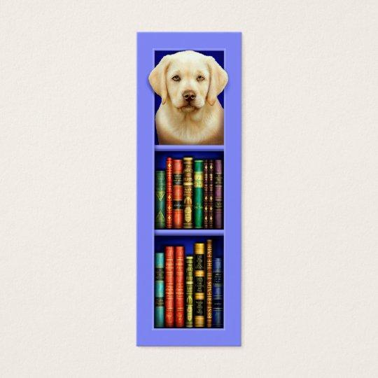 Labrador Retriever Puppy Blue Bookmark Mini Business Card