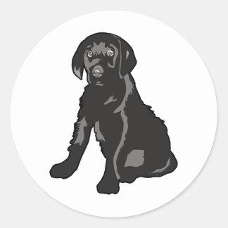 Labrador Retriever Puppy Classic Round Sticker