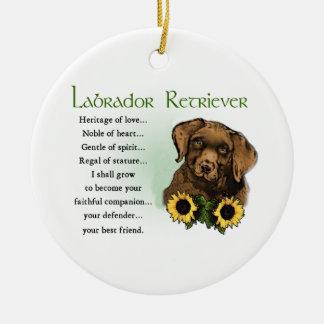 Labrador Retriever Puppy Heritage Gifts Ceramic Ornament