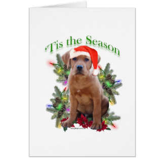 Labrador Retriever Puppy 'Tis the Season  Greeting Card