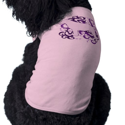 Labrador retriever púrpura del remolino playera sin mangas para perro