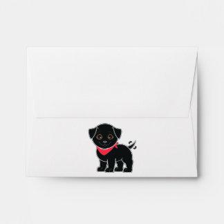 Labrador retriever que hace juego el sobre de Note