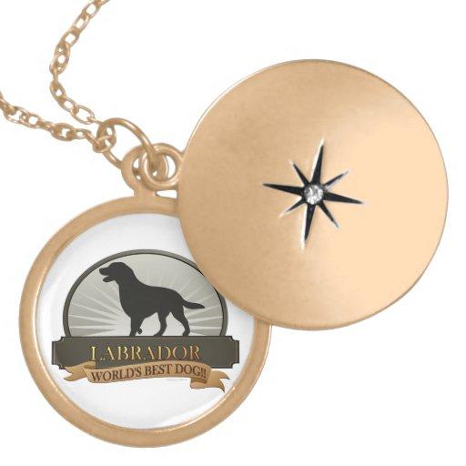 Labrador Retriever Round Locket Necklace