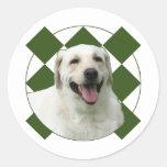 Labrador retriever round stickers