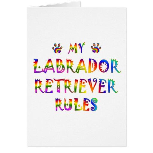 Labrador Retriever Rules Fun Greeting Card