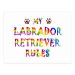Labrador Retriever Rules Fun Postcards
