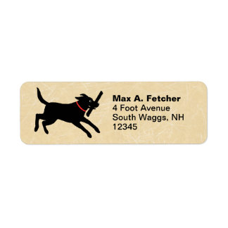 Labrador Retriever Running Label