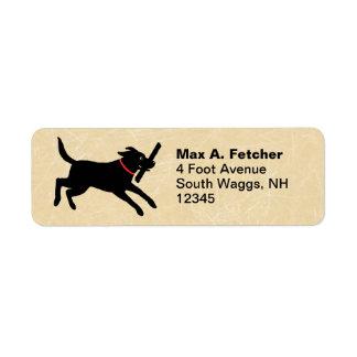 Labrador Retriever Running Return Address Label