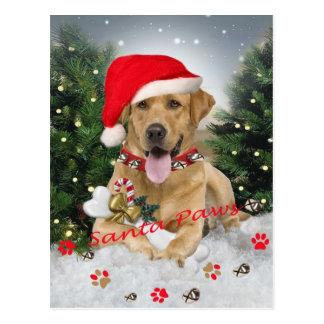 Labrador Retriever Santa Gifts Postcard