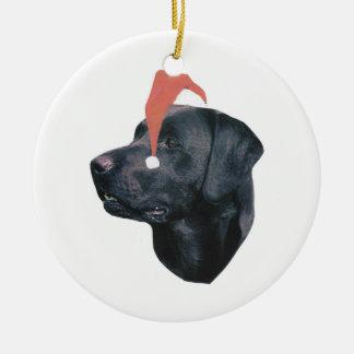 Labrador Retriever Santa Hat Ornament