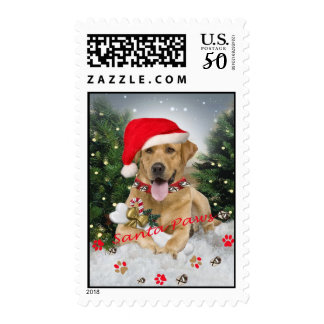 Labrador Retriever Santa Paws Postage