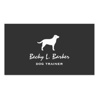 Labrador Retriever Silhouette Double-Sided Standard Business Cards (Pack Of 100)