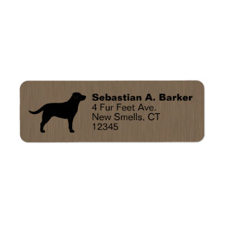 Labrador Retriever Silhouette Label