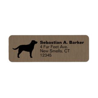 Labrador Retriever Silhouette Return Address Labels