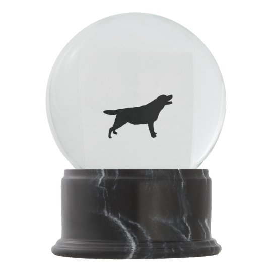 labrador retriever silhouette love dogs snow globe