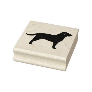 Labrador Retriever Silhouette Rubber Stamp