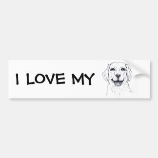 Labrador Retriever Smiling Dog Gifts Bumper Sticker