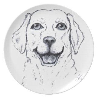 Labrador Retriever Smiling Dog Gifts Party Plate