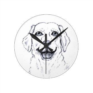 Labrador Retriever Smiling Dog Gifts Round Clock