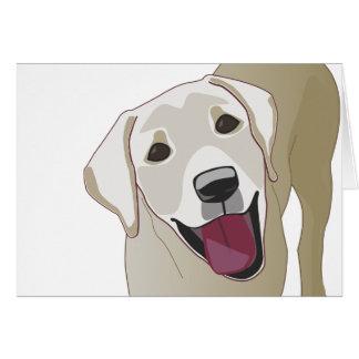 Labrador retriever tarjetón