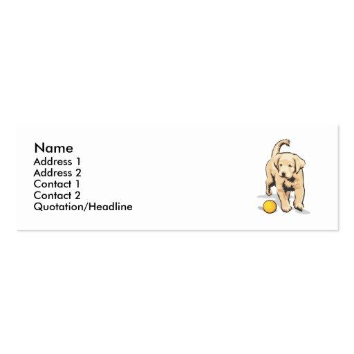 Labrador retriever tarjeta de visita