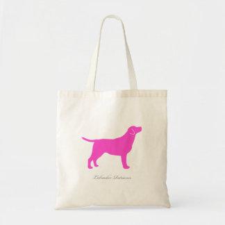 Labrador Retriever Tote Bag (pink version 1)