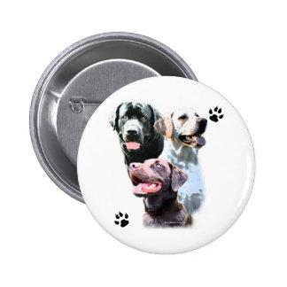 Labrador Retriever Trio - Button
