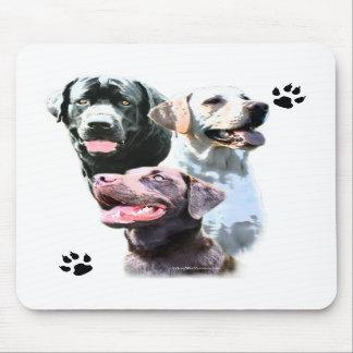 Labrador Retriever Trio Mouse Pad