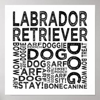 Labrador Retriever Typography Poster
