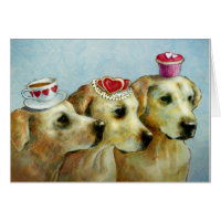 Labrador Retriever Valentine Card
