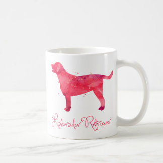 Labrador Retriever Watercolor Design Coffee Mug