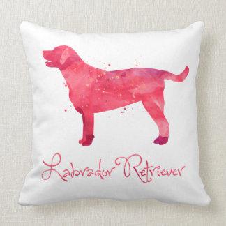 Labrador Retriever Watercolor Design Throw Pillow