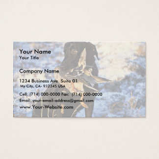 Labrador Retriever with Drake Mallard Business Card
