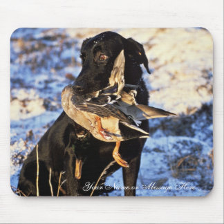 Labrador Retriever with Drake Mallard Mouse Pad