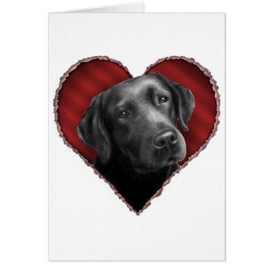 Labrador Retriever with Heart Card
