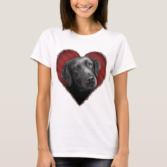 Labrador Retriever with Heart T-Shirt