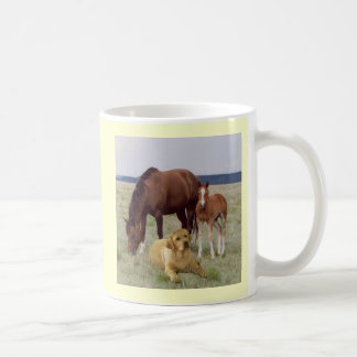 Labrador Retriever With Horses Mug