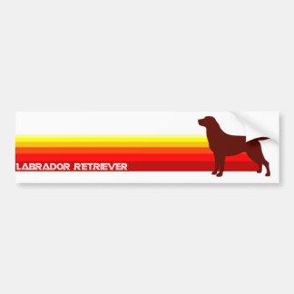 Labrador Retriever With Stripes Bumper Sticker Car Bumper Sticker