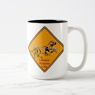 Labrador Retriever X-ing Two-Tone Coffee Mug