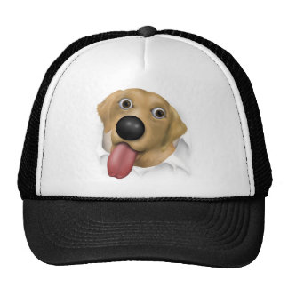 Labrador Retriever (Yellow) Busting Out Trucker Hat
