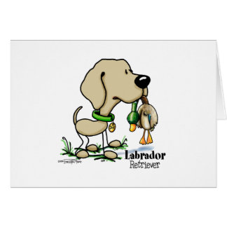 Labrador Retriever - Yellow Greeting Card