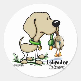Labrador Retriever - Yellow Classic Round Sticker
