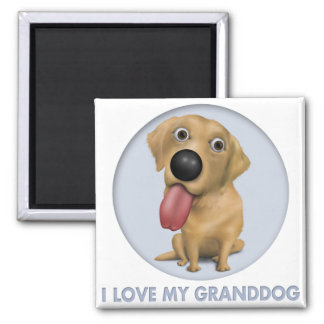 Labrador Retriever (Yellow) Granddog 2 Inch Square Magnet