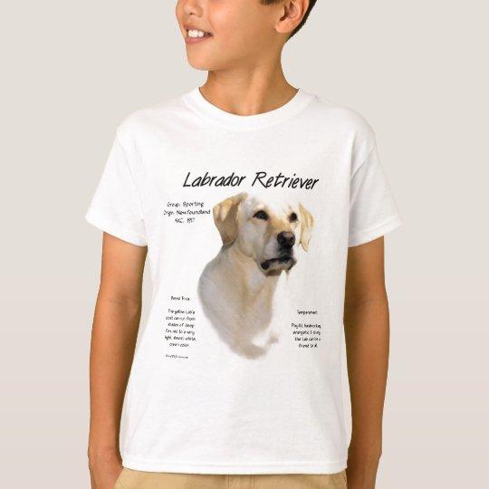 Labrador Retriever (yellow) History Design T-Shirt