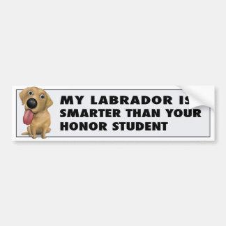 Labrador Retriever Yellow Honor Bumper Sticker