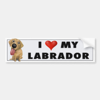 Labrador Retriever (Yellow) Love Sticker Bumper Sticker