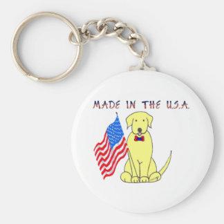 Labrador Retriever Yellow Made In The USA Keychain