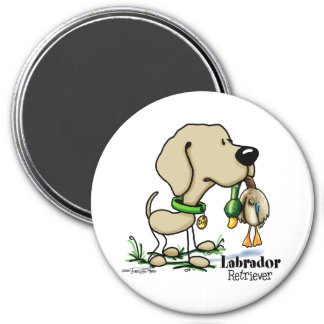 Labrador Retriever - Yellow 3 Inch Round Magnet